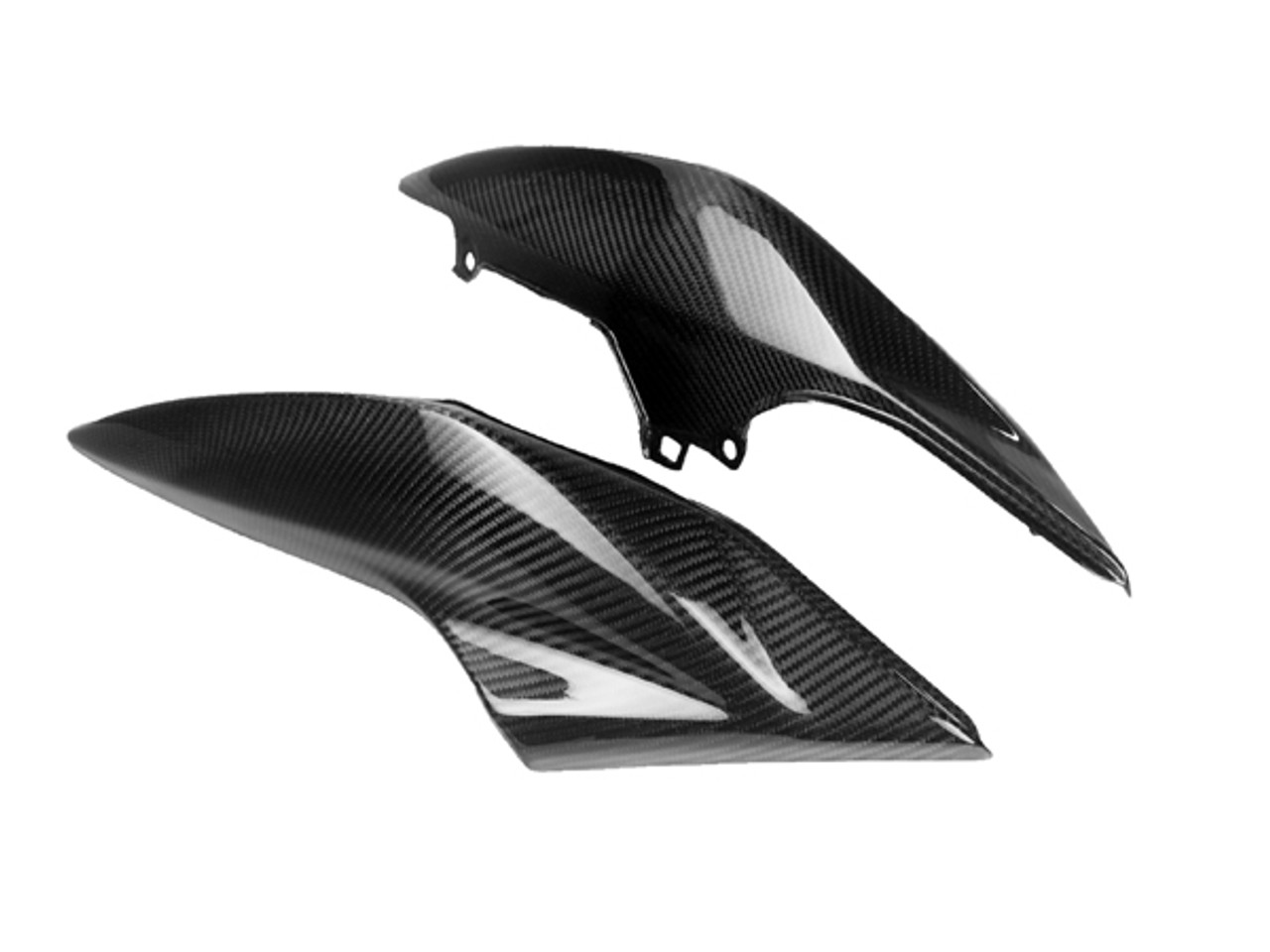 Seat Section- in Glossy Twill Weave Carbon Fiber for Kawasaki Z 750 07-12, Z1000 07-09