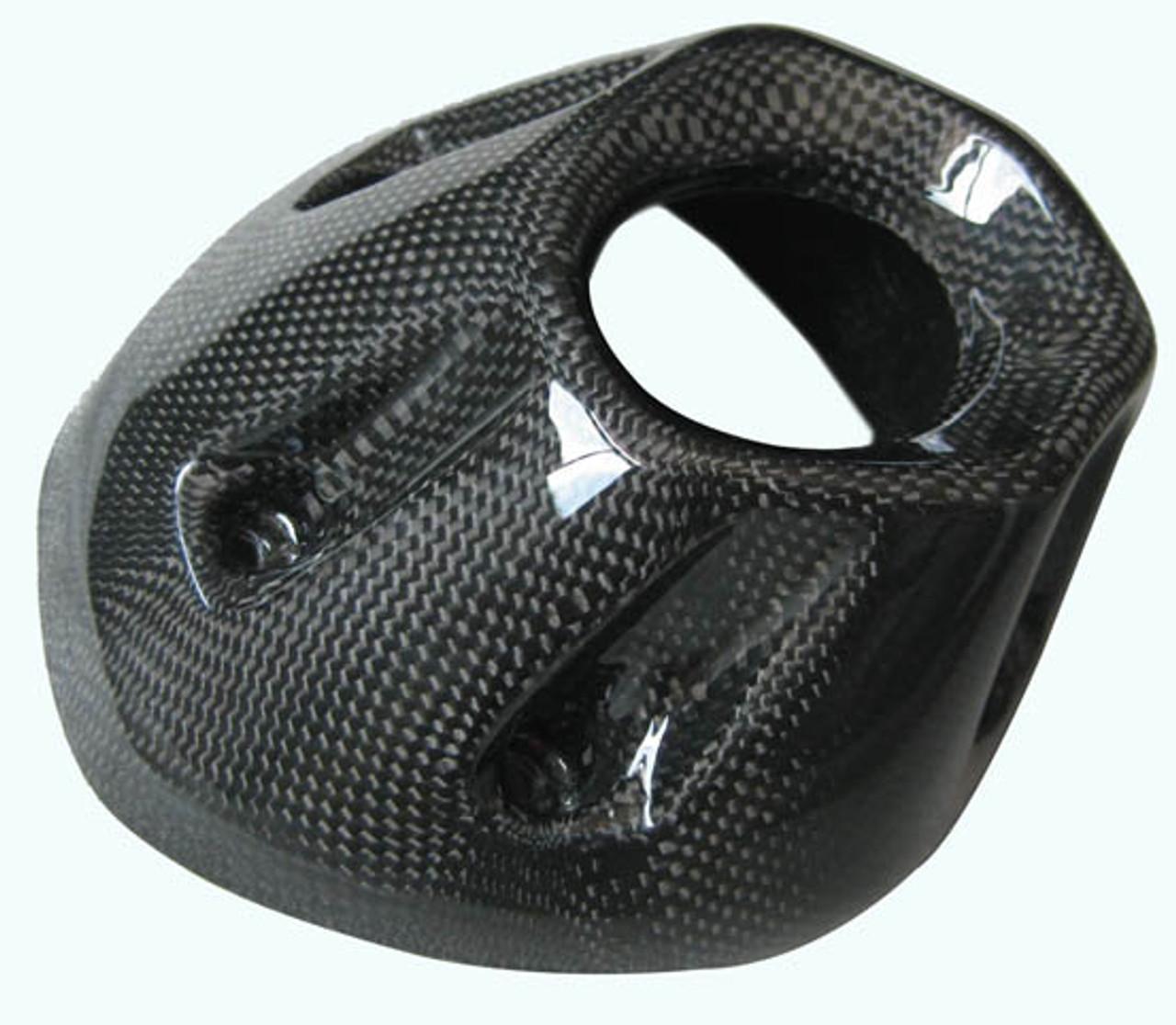 Glossy Plain Weave Carbon Fiber Heat Shield Upper for Yamaha FZ1 06 - 09