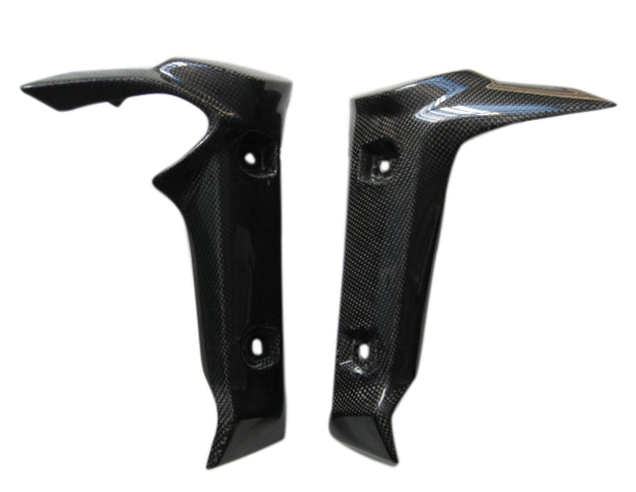 Glossy Plain Weave Carbon Fiber Radiator Cover with Racingmesh for Yamaha FZ1 06 - 12 (naked bike)