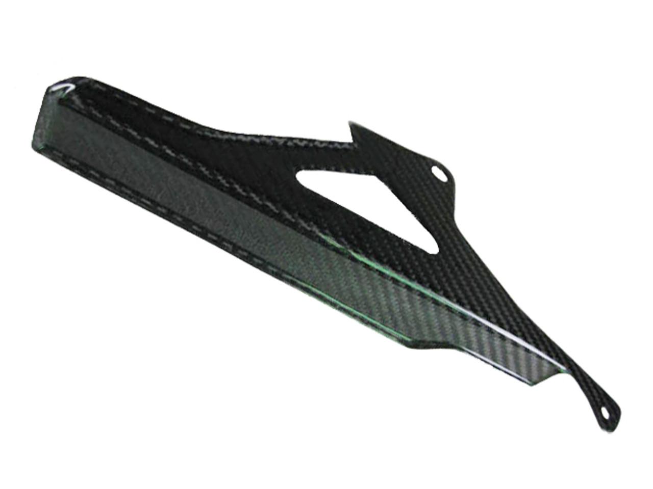 Glossy Twill Weave Upper Chain Guard for Aprilia RSV4 2009+, Tuono 2011+