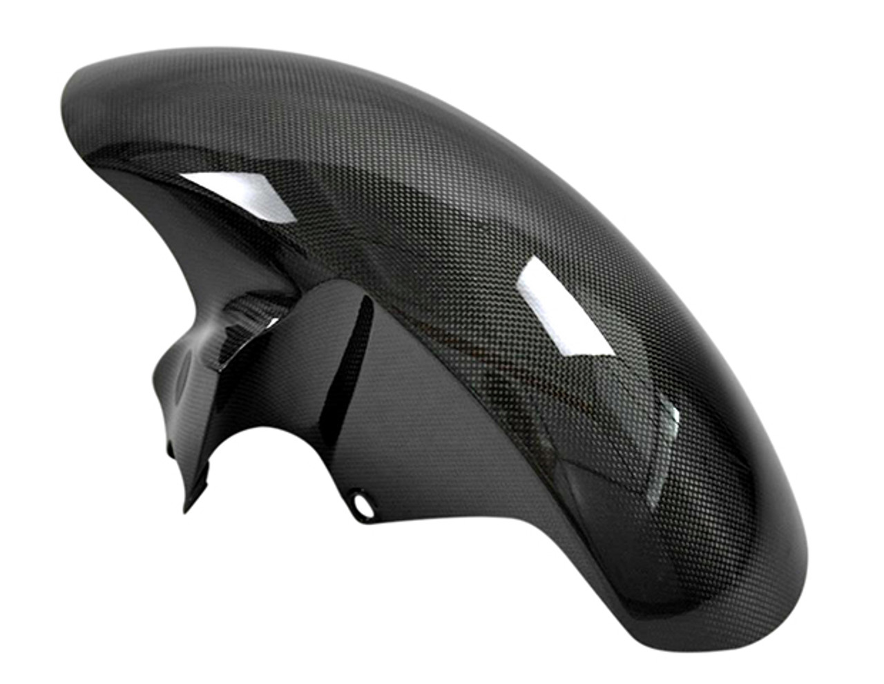 Glossy Twill Weave Carbon Fiber Front Fender for Yamaha R6 06-16