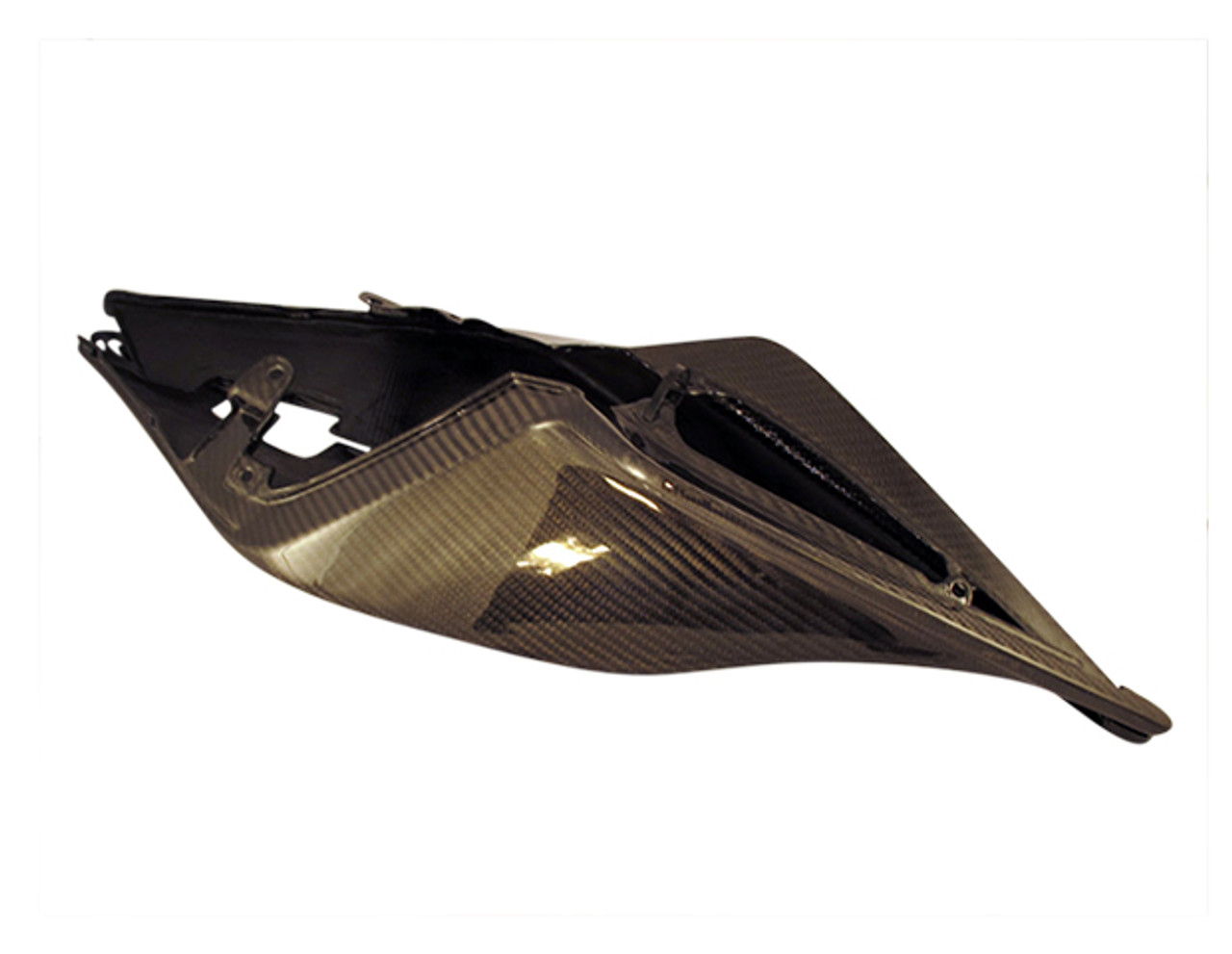Glossy Twill Weave Carbon Fiber Tail Fairings for Aprilia RSV4 2009+