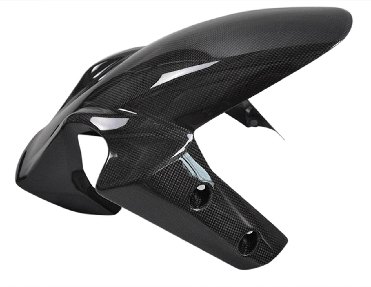 Glossy Plain Weave Carbon Fiber Front Fender for Ducati Multistrada 1200
