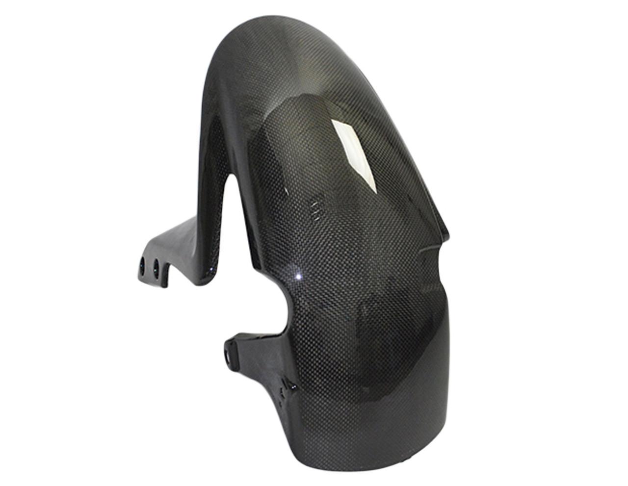 Front Fender for Honda CBR 600RR 07-12 in Glossy Plain Weave Carbon Fiber