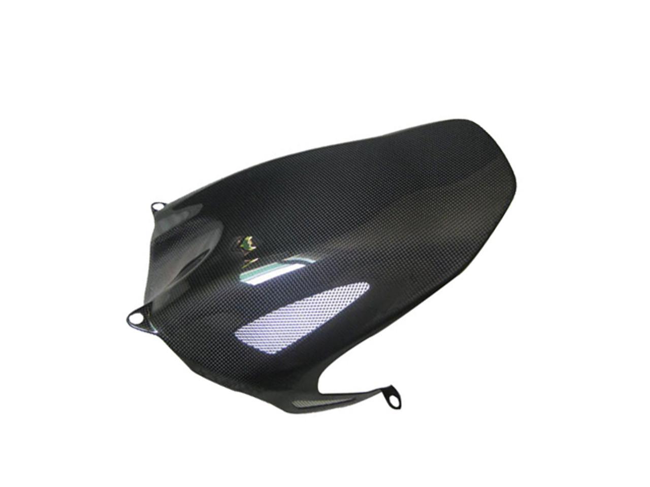 Glossy Plain Weave Carbon Fiber Rear Hugger with Racing Mesh for Honda CBR 1000RR 08-11