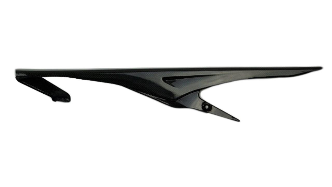 Chain Guard in Glossy Plain Weave Carbon Fiber for Triumph Street Triple  2013+
