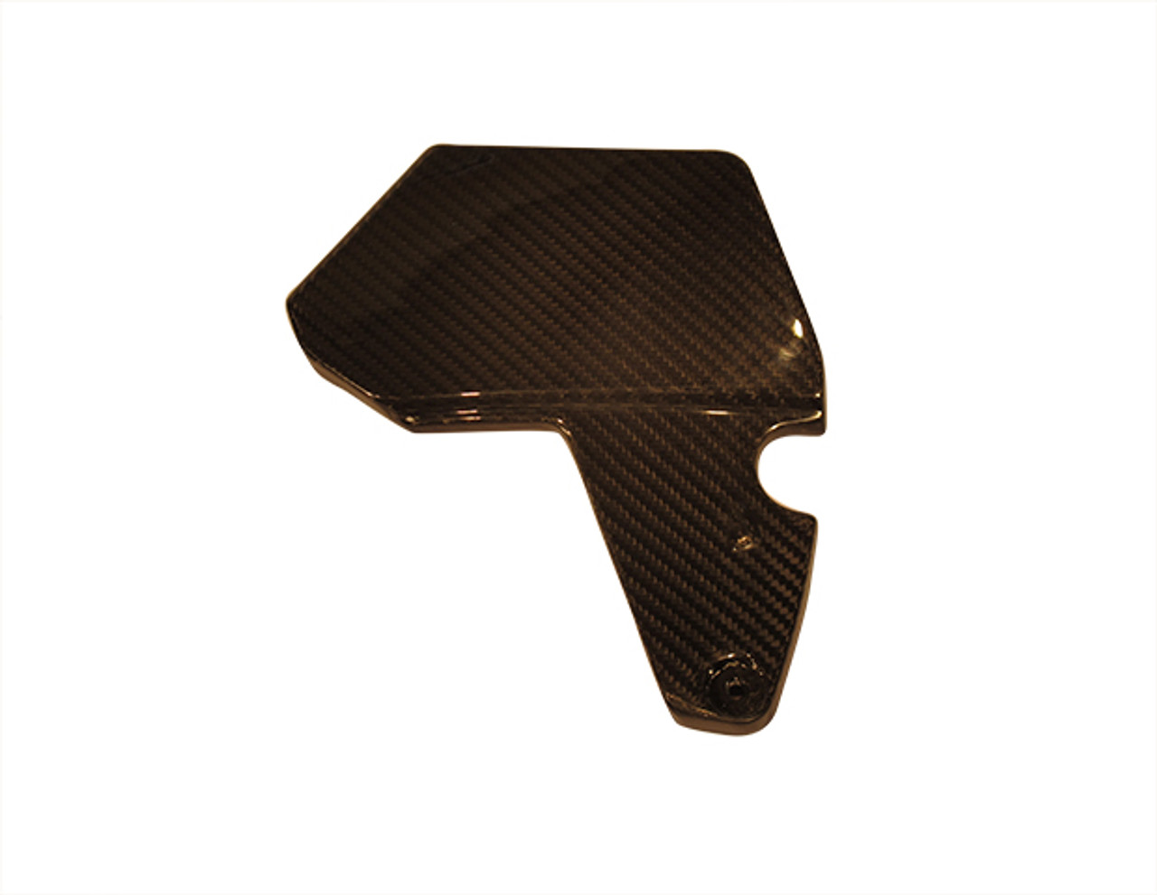 Battery Door Cover for Kawasaki ZX14/ZZR1400 06-11 in Glossy Plain Weave Carbon Fiber