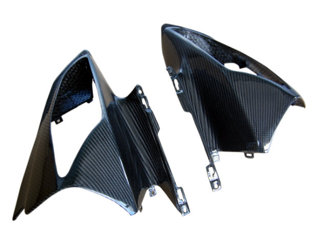 Front Fairing in Glossy Twill Weave Carbon Fiber for Yamaha R6 08-16