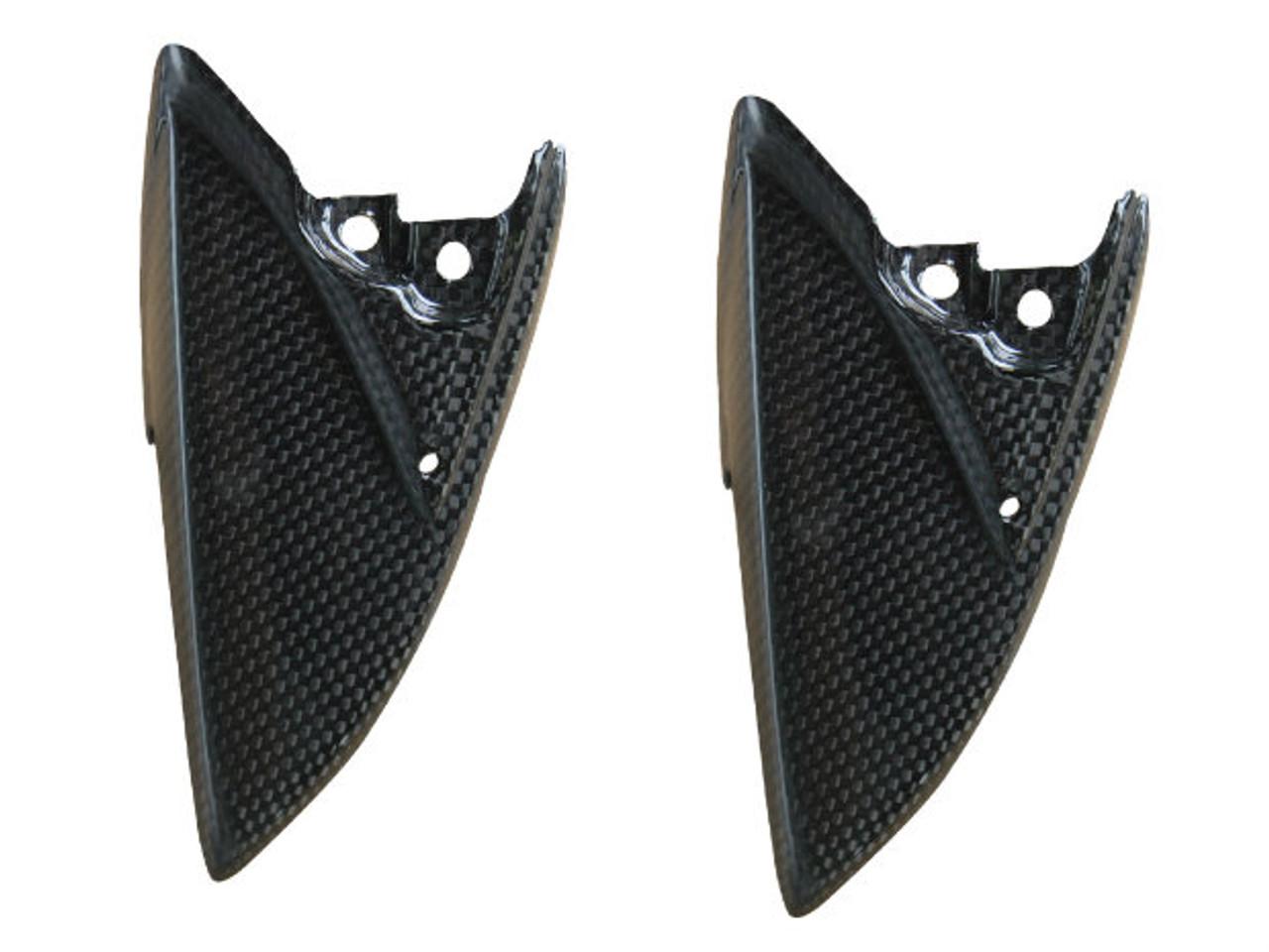 Seat Cowl Lower Panels for Suzuki  GSXR 600, GSXR 750  2011-2019 in Glossy Plain Weave Carbon Fiber