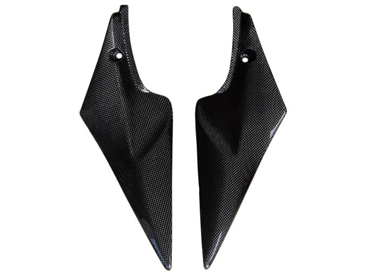 Glossy Plain Weave Carbon Fiber  Tank Side Panels for Suzuki  GSXR 600, GSXR 750  2006-2007