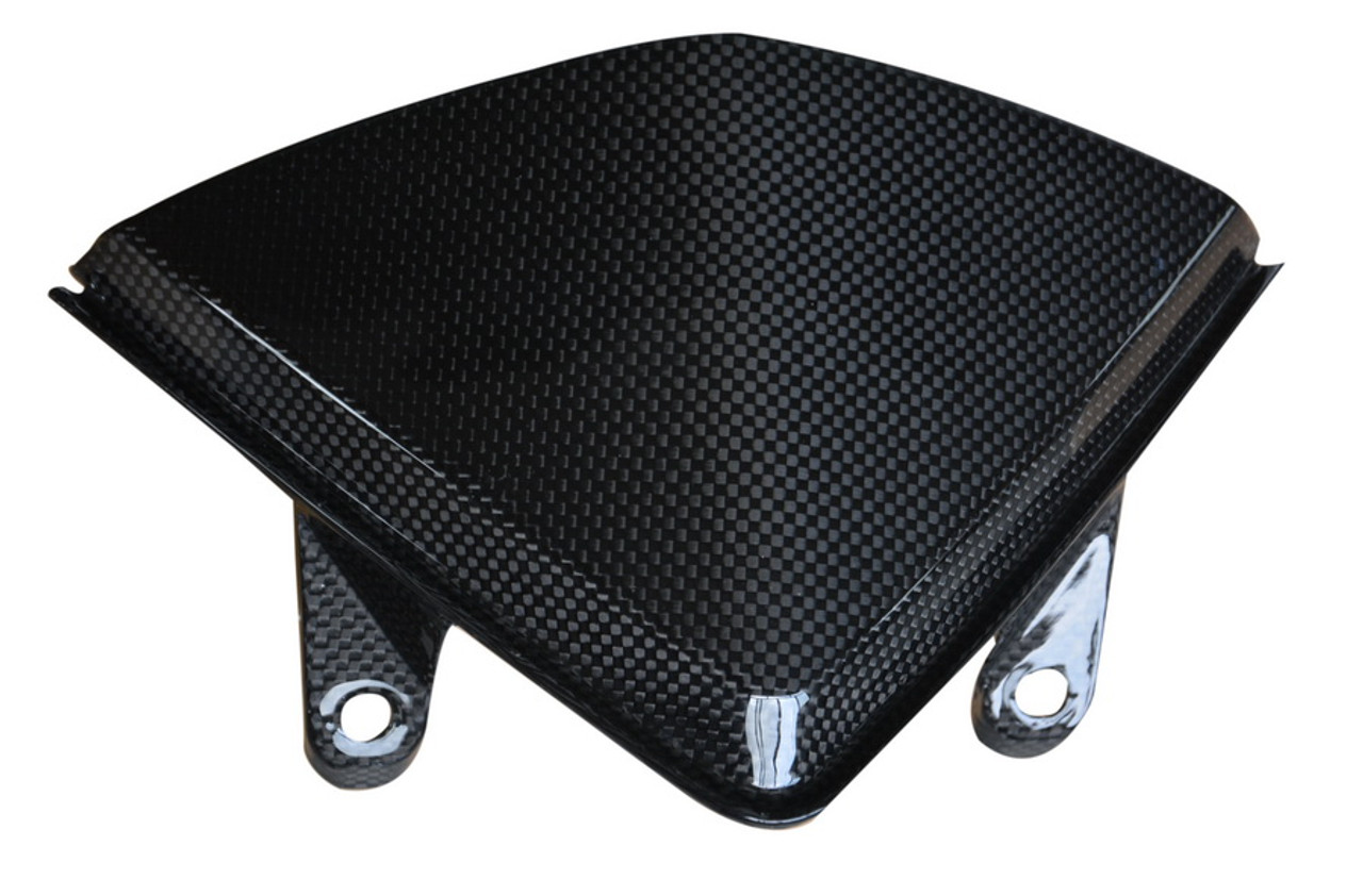 Windshield in Glossy Plain Weave Carbon Fiber for Ducati Hyperstrada, Hypermotard 821 2013-2015, 939 2016-2018