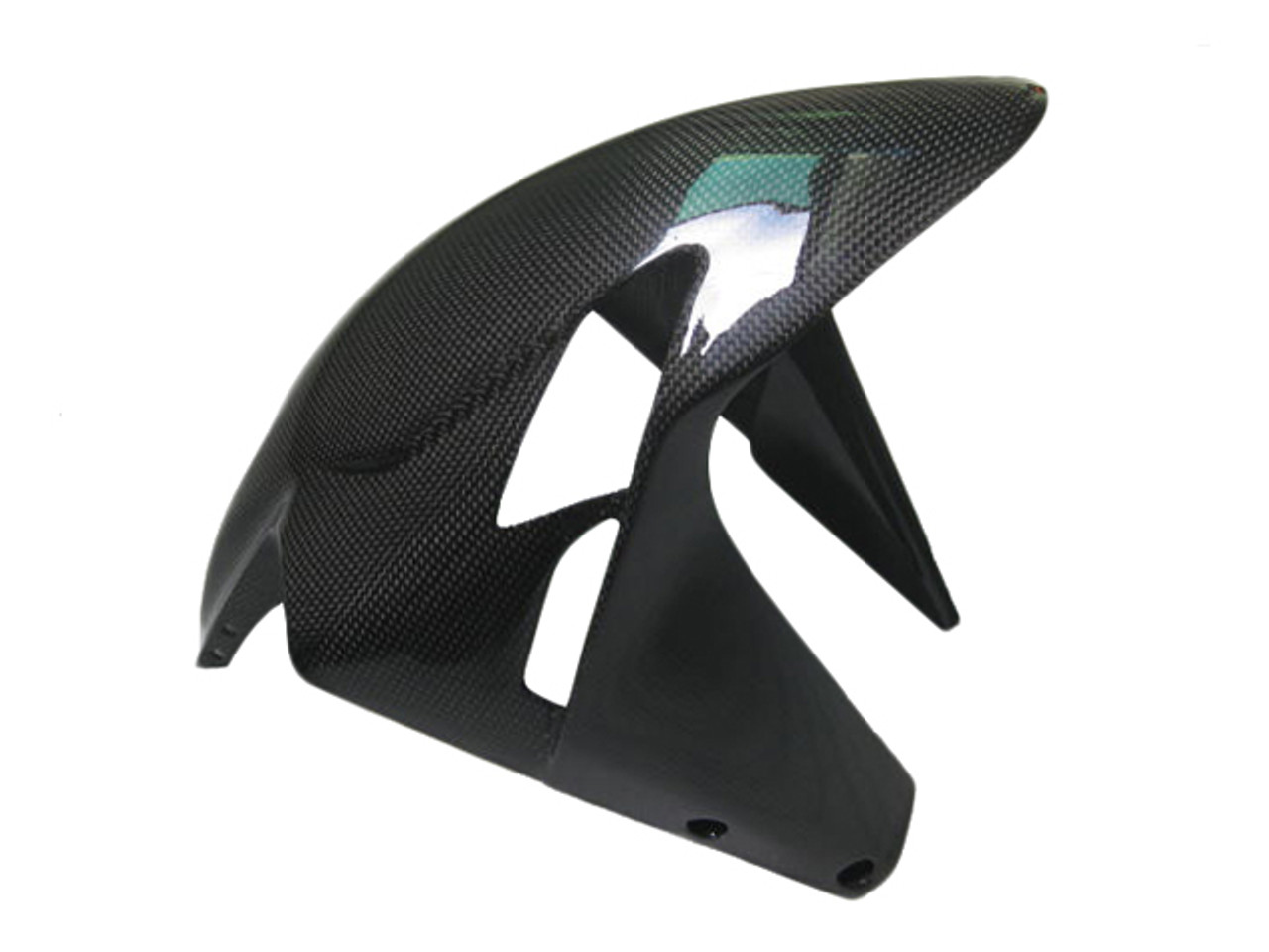 Front Fender in Carbon with Fiberglass for MV Agusta F3, Brutale  675/800 2013-2015 in Glossy Plain Weave Carbon Fiber Carbon