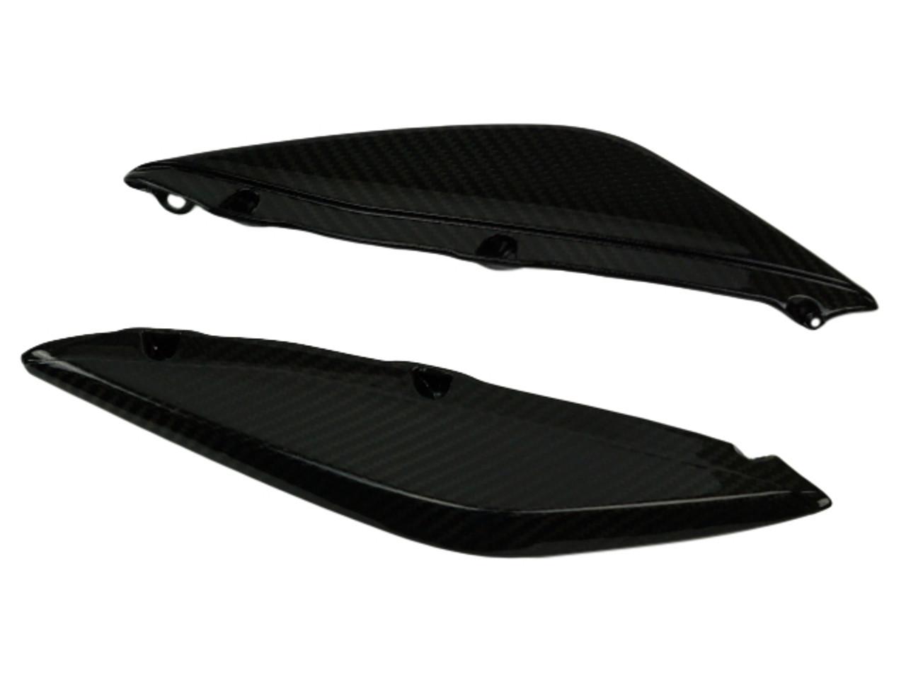 Side Fairings (C) in Glossy Twill weave Carbon Fiber for MV Agusta Rivale 800
