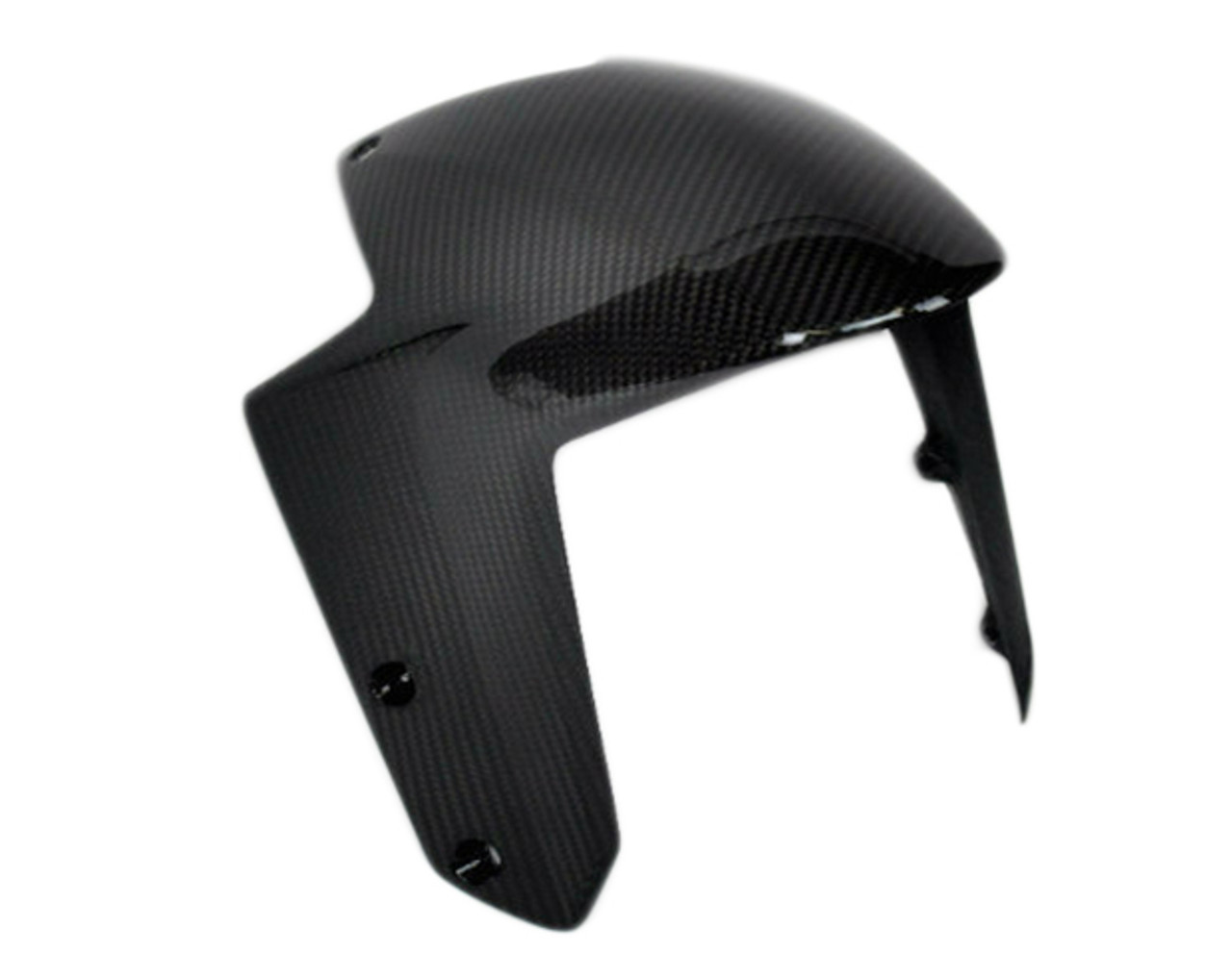 Front Fender (front part) in Glossy Twill Weave Carbon Fiber for KTM 1290 Super Duke R