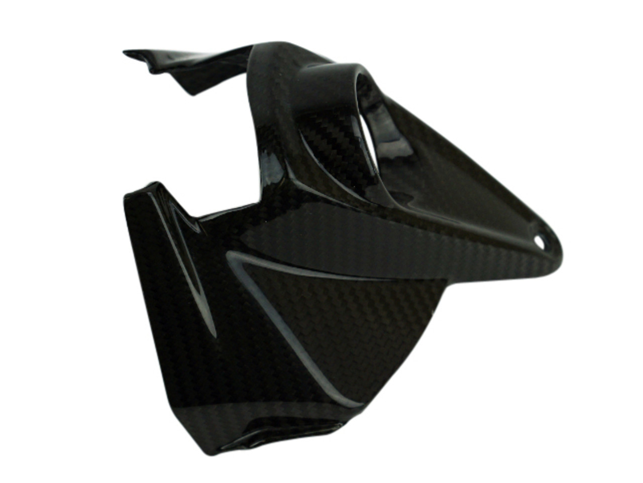 Key Cover in Glossy Twill Weave Carbon Fiber for Aprilia Dorsoduro 1200