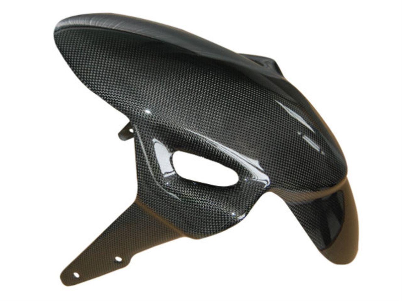 "Front Fender ""Diversion"" in Glossy Plain Weave Carbon Fiber for Ducati Monster S2R, S4R"
