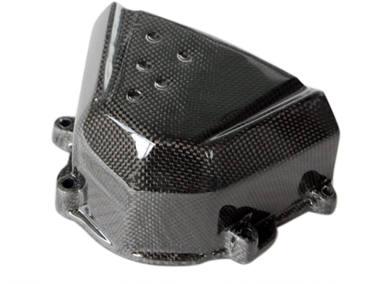 Sprocket Cover in Glossy Plain Weave Carbon Fiber for Kawasaki Z1000 2007-2009, Z750 2007-2012