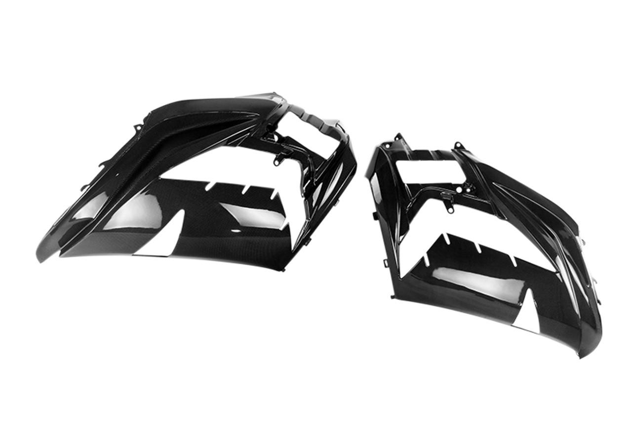 Side Fairings in Glossy Plain Weave Carbon Fiber for Kawasaki ZX14R/ZZR1400 2012+