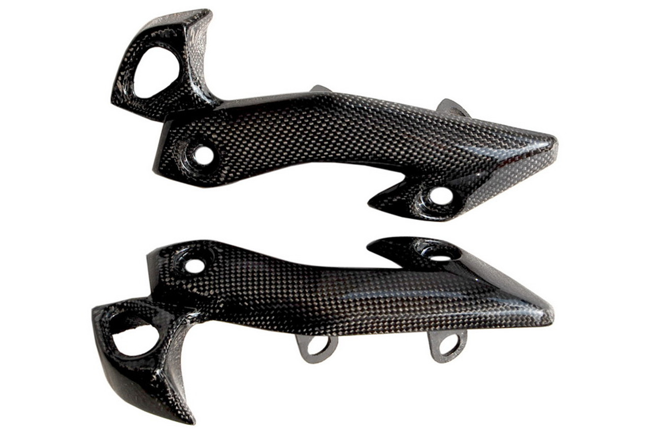 Headlight Holders in Glossy Plain Weave Carbon Fiber for Yamaha Fazer FZ1