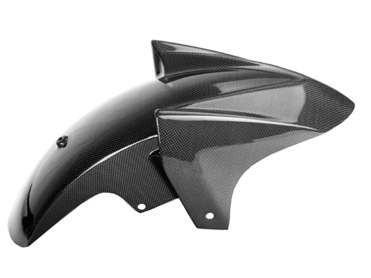Front Fender in Glossy Plain Weave Carbon Fiber for Yamaha TDM 900 2001-2010