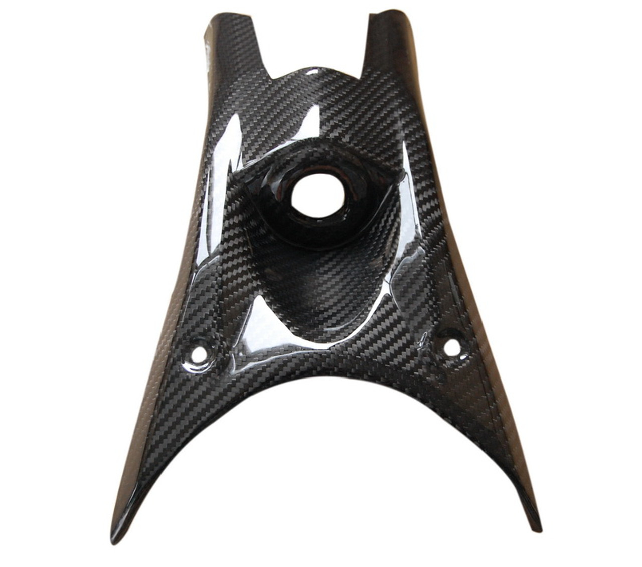 Key Guard in Glossy Twill Weave Carbon Fiber for Kawasaki Z800
