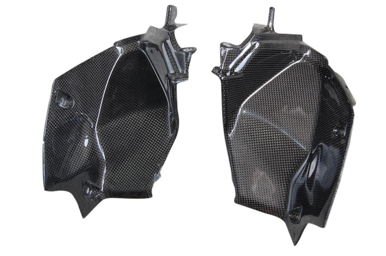 Dash Panel Air Intake Covers in Glossy Plain Weave  Carbon Fiber for Kawasaki Z800
