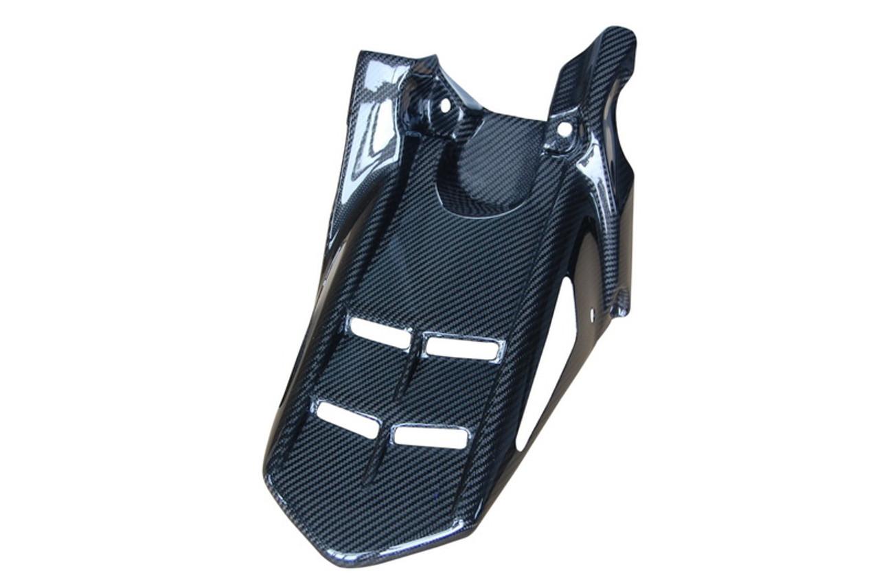 Rear Hugger in Glossy Twill Weave Carbon Fiber for Kawasaki Z800