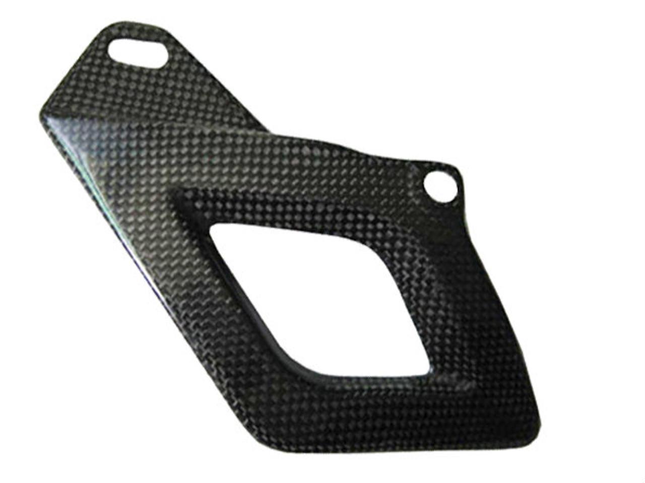 Glossy Plain Weave Carbon Fiber Lower Chain Guard for Aprilia RSV4 2009+ and Tuono V4 2011+