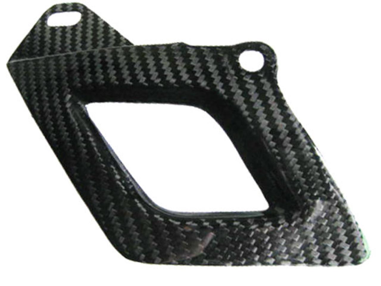 Glossy Twill Weave Carbon Fiber Lower Chain Guard for Aprilia RSV4 2009+ and Tuono V4 2011+