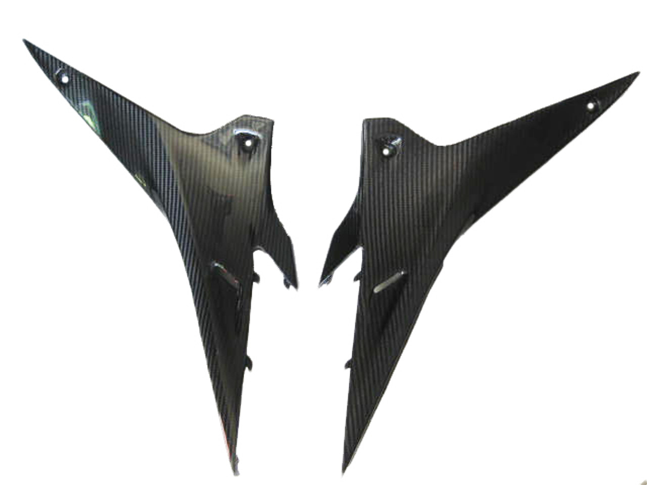 Glossy Twill Weave Carbon Fiber Under Seat Side Panels for Aprilia RSV4 2009+, Tuono V4 2011+