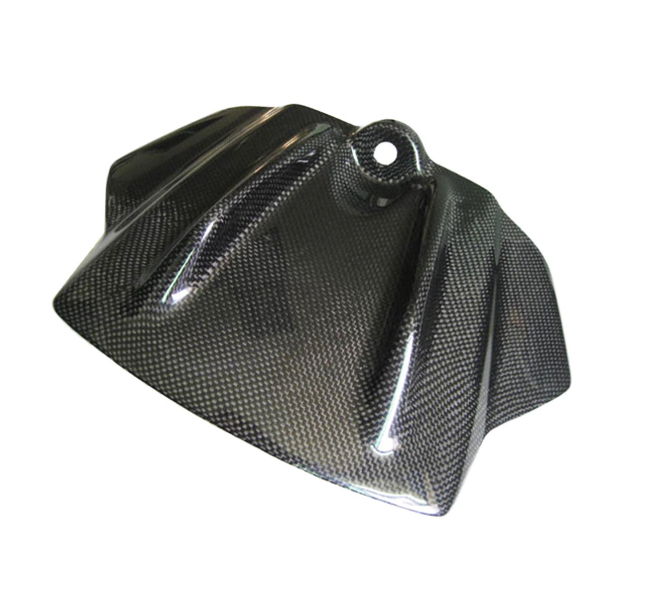 Glossy Plain Weave Carbon Fiber Tank Front Cover for Aprilia RSV4 09-12, Tuono V4 11-13