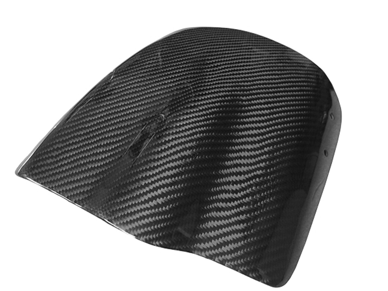 Windscreen in Glossy Twill Weave Carbon with Fiberglass for Buell XB12X