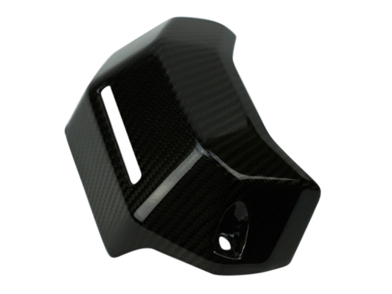 Coolant Reservoir Cover in Glossy Twill Weave Carbon Fiber for Yamaha FZ-07/ MT-07 2015+