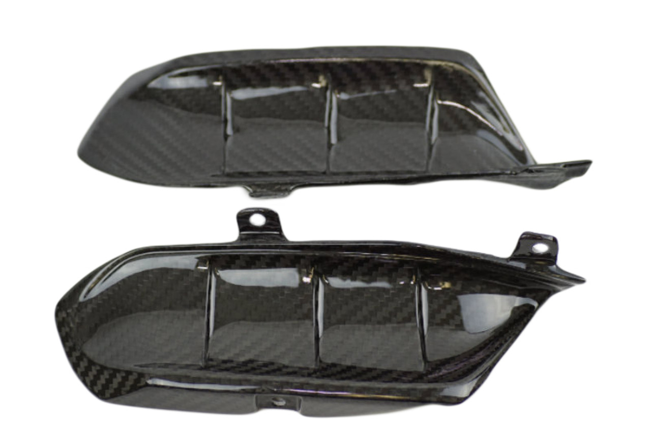 Center Tail Fairings in Glossy Twill Weave Carbon Fiber for Yamaha FZ-07/ MT-07