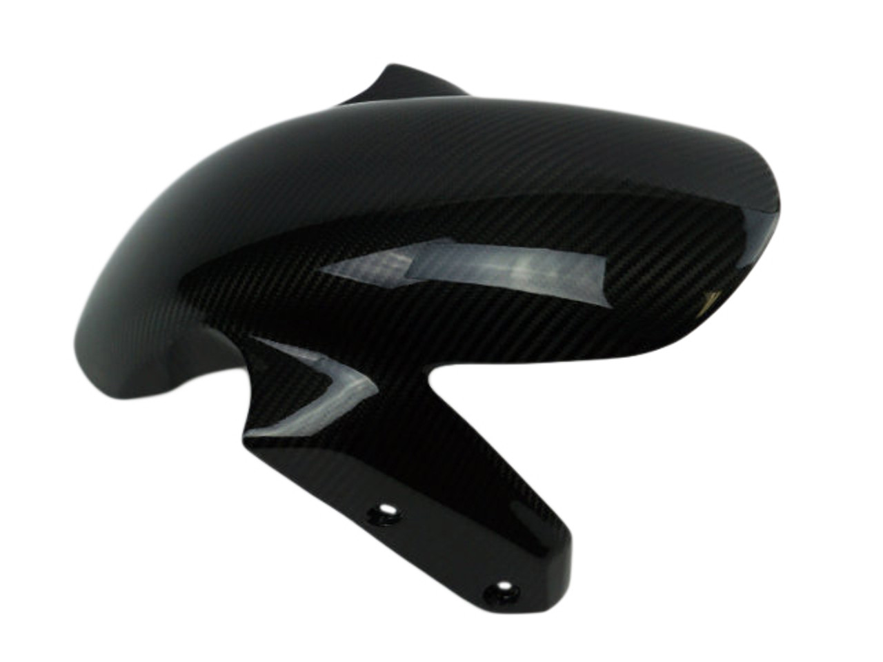 Front Fender in Glossy Twill Weave Carbon Fiber for BMW R1200R 2015+