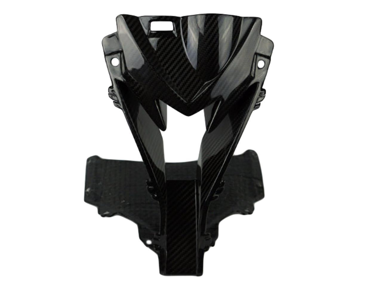 Upper Fairing Stay Bracket in Twill Glossy Weave Carbon Fiber for BMW S1000RR 2015-2018