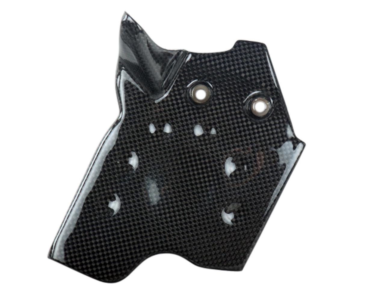 Front Sprocket Cover in Glossy Plain Weave Carbon Fiber for KTM Duke 690 II 1998-2007