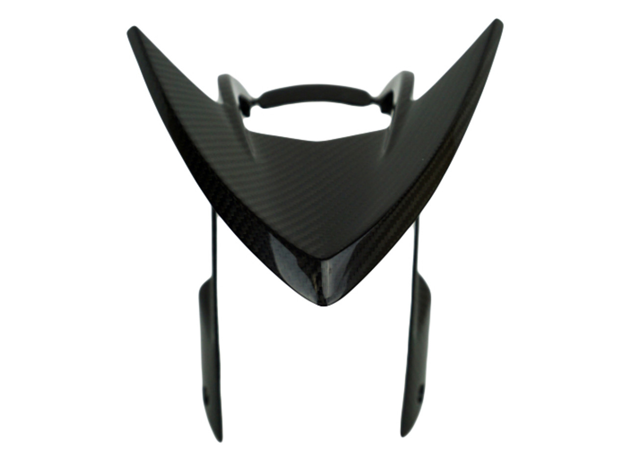 Front Fender Upper Part in Glossy Twill Weave Carbon Fiber for MV Agusta Rivale 800