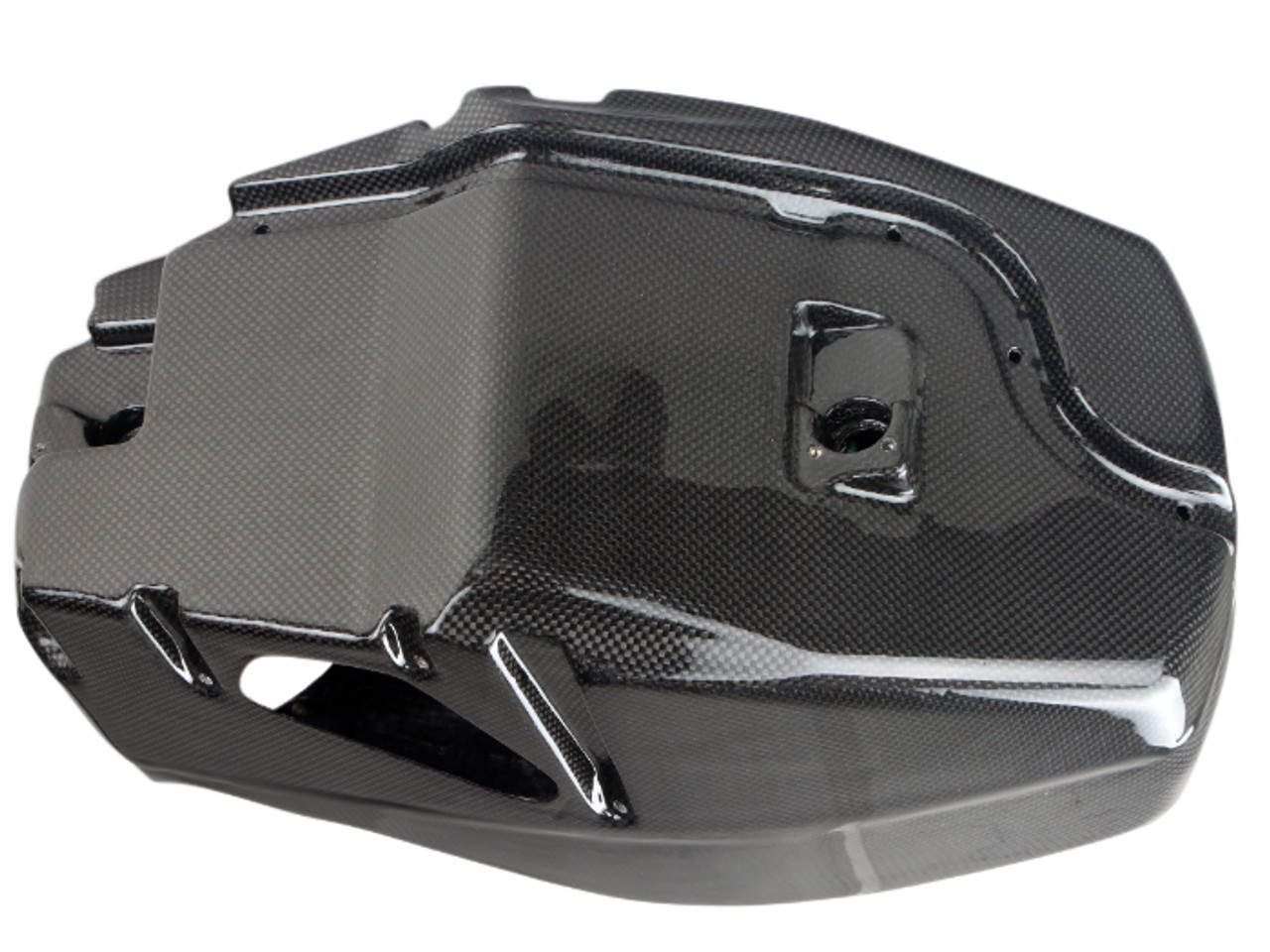 Air Box in Glossy Plain Weave Carbon Fiber for Ducati Streetfighter