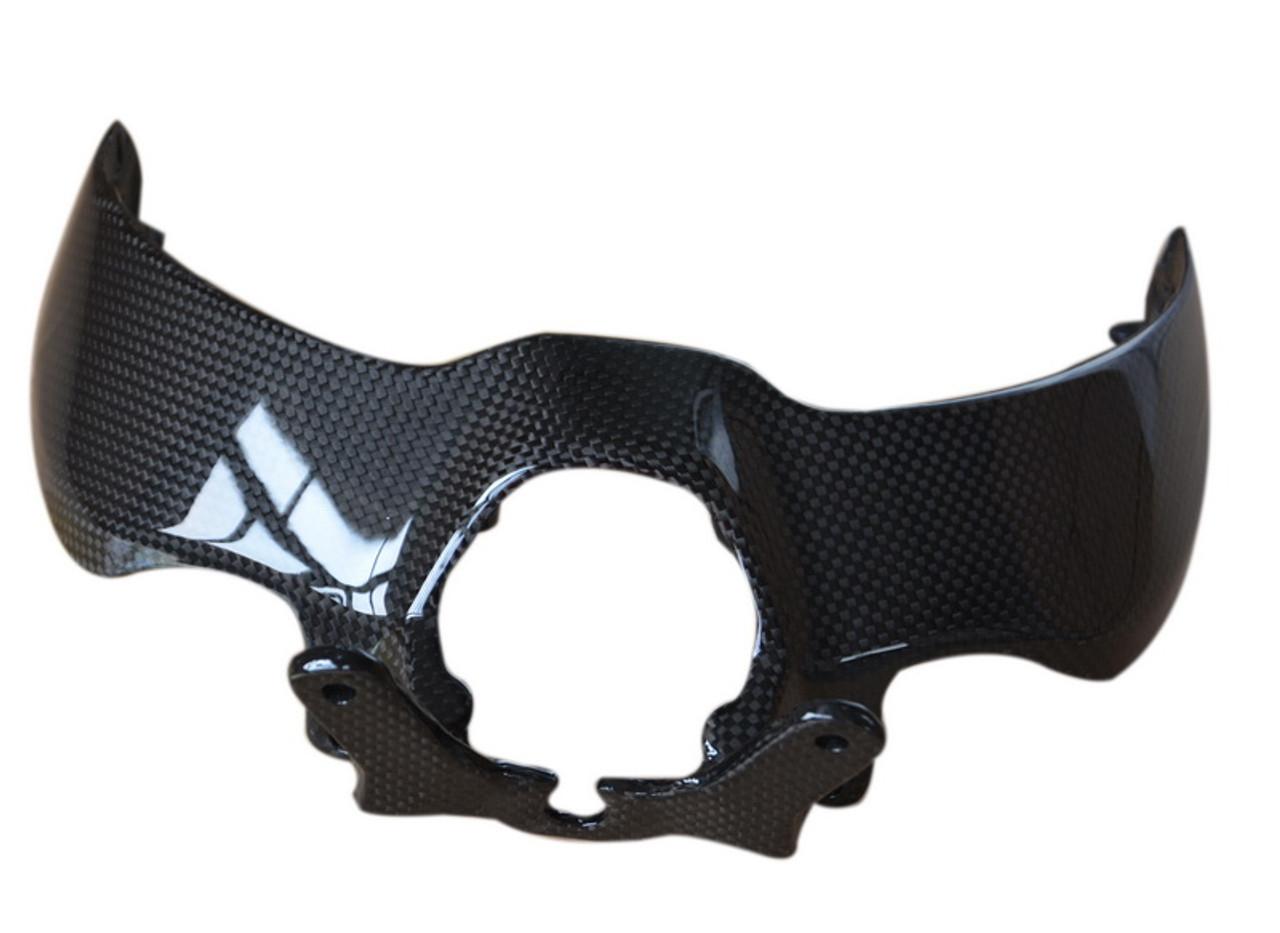 Headlight Cover in Glossy Plain Weave Carbon Fiber for Ducati Monster  821 14-17, 1200 & 1200S 14-16, 1200R 14-17