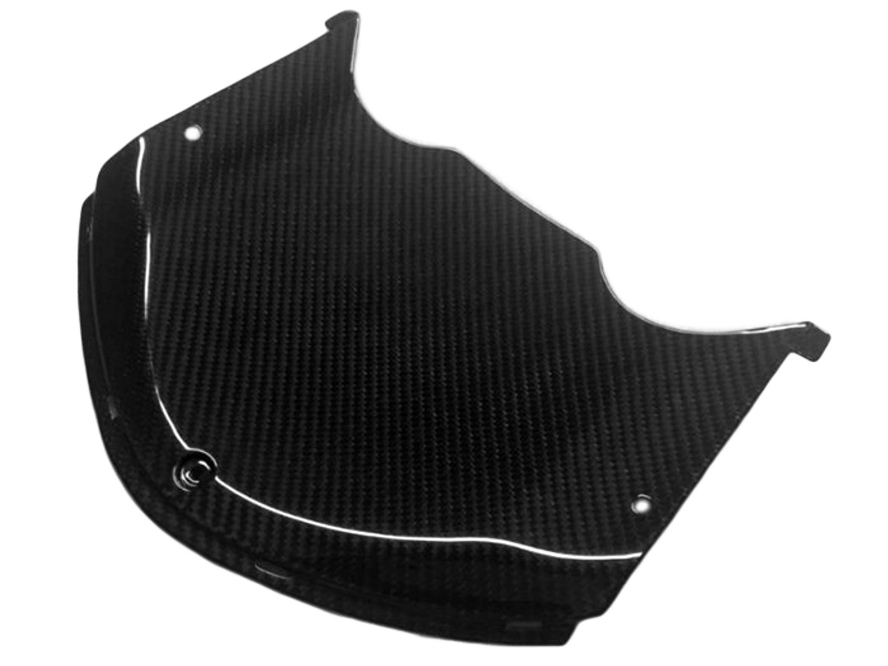 Cockpit Cover in Glossy Twill Weave Carbon Fiber for Kawasaki ZX14-ZZR1400 2006+