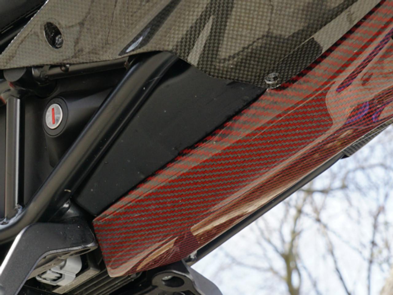 Under Tail in Glossy Twill Weave Black & Orange 100% Carbon Fiber for KTM 1290 Super Duke R