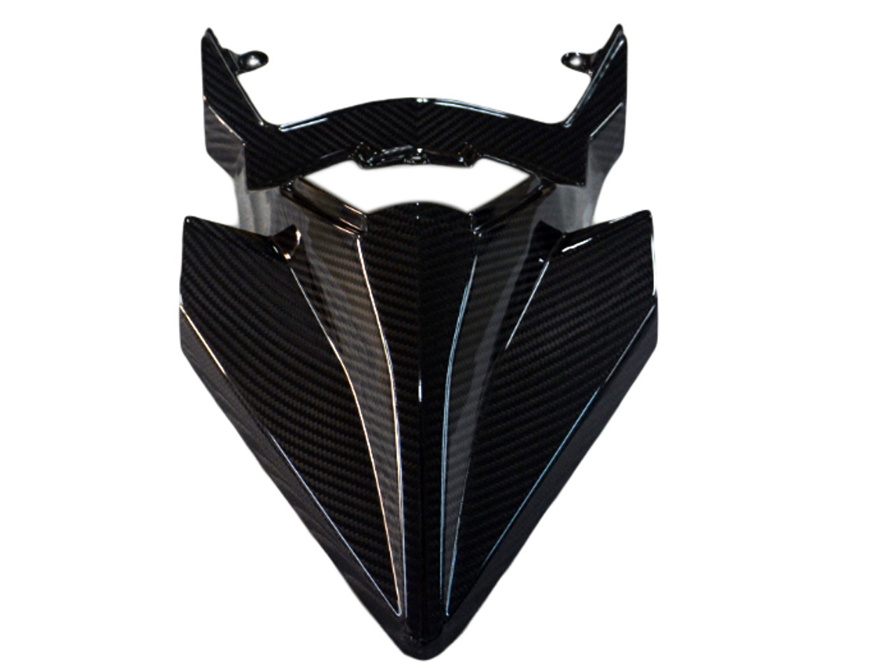 Tail Fairing in Glossy Twill Weave Carbon Fiber for Kawasaki H2