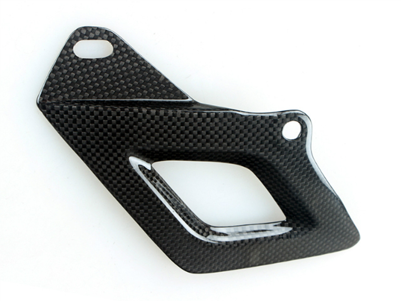 Glossy Plain Weave Carbon Fiber Lower Chain Guard for Aprilia RSV4 2009+ and Tuono V4 2011+