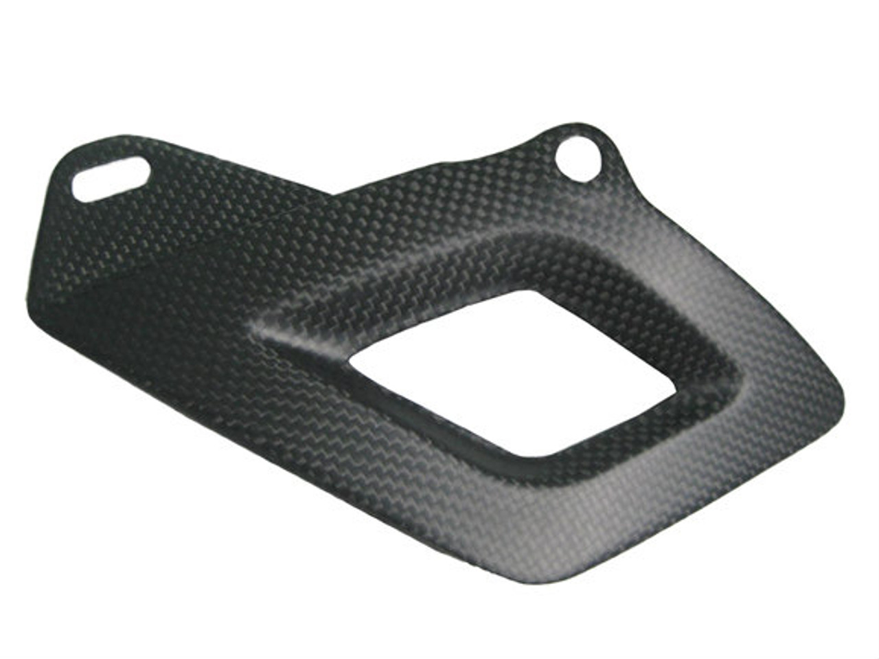 Matte Plain Weave Carbon Fiber Lower Chain Guard for Aprilia RSV4 2009+, Tuono V4 2011+