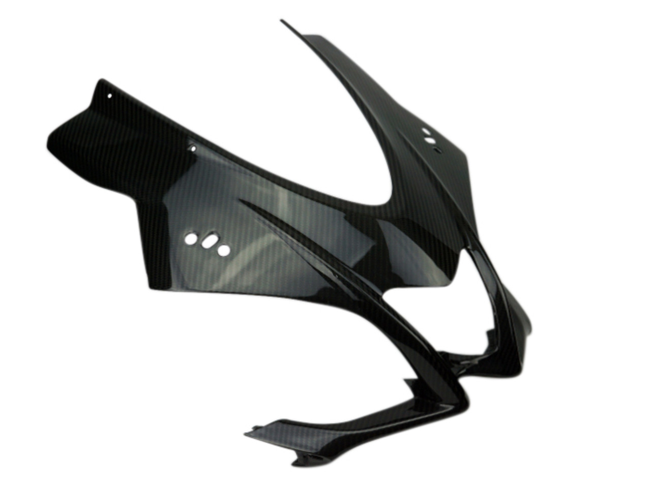 Front Fairing in Glossy Twill Weave Carbon Fiber for Aprilia RSV4 2016+