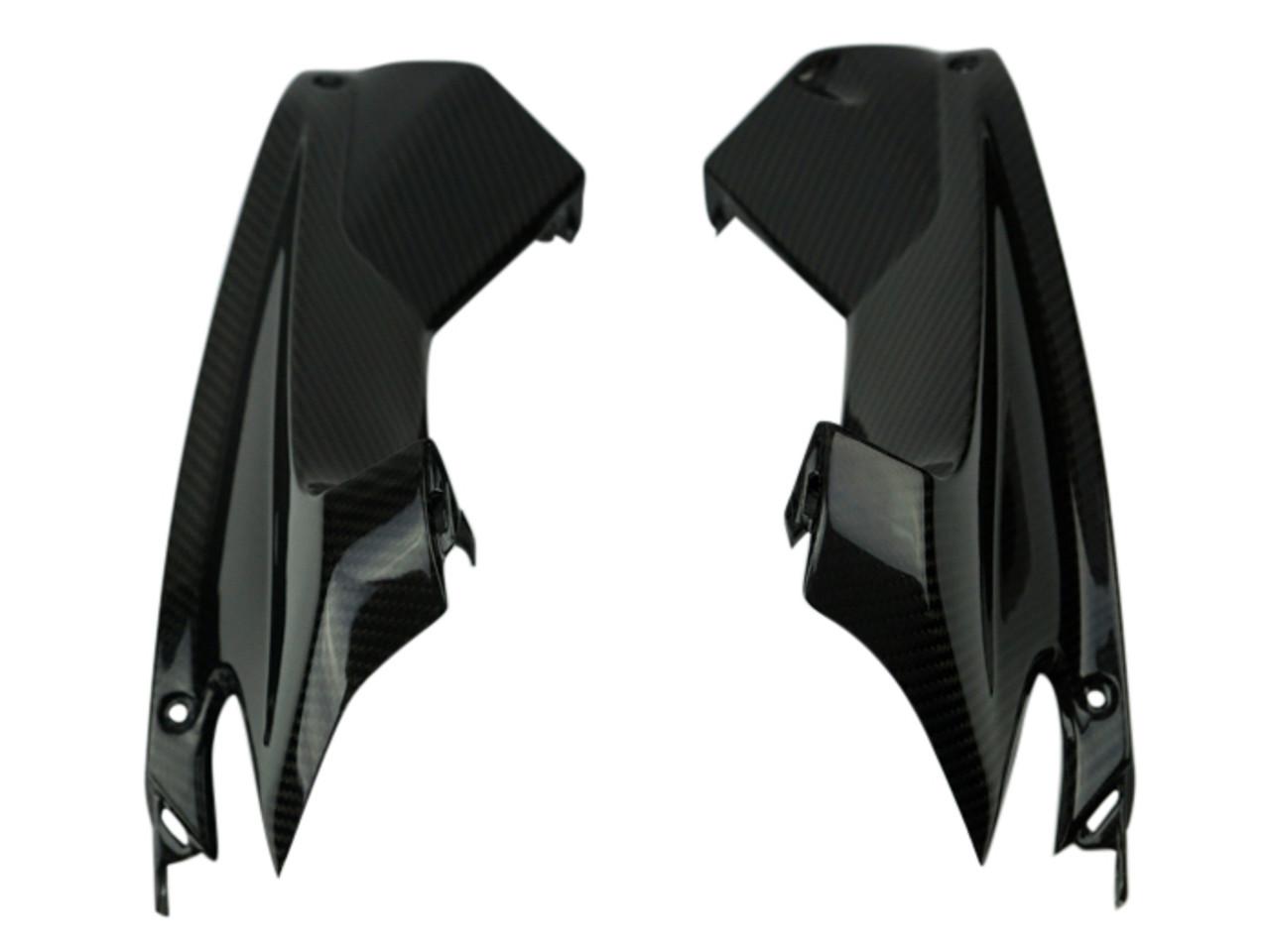 Upper Inner Fairings in Glossy Twill Weave Carbon Fiber for Aprilia RSV4 2016+