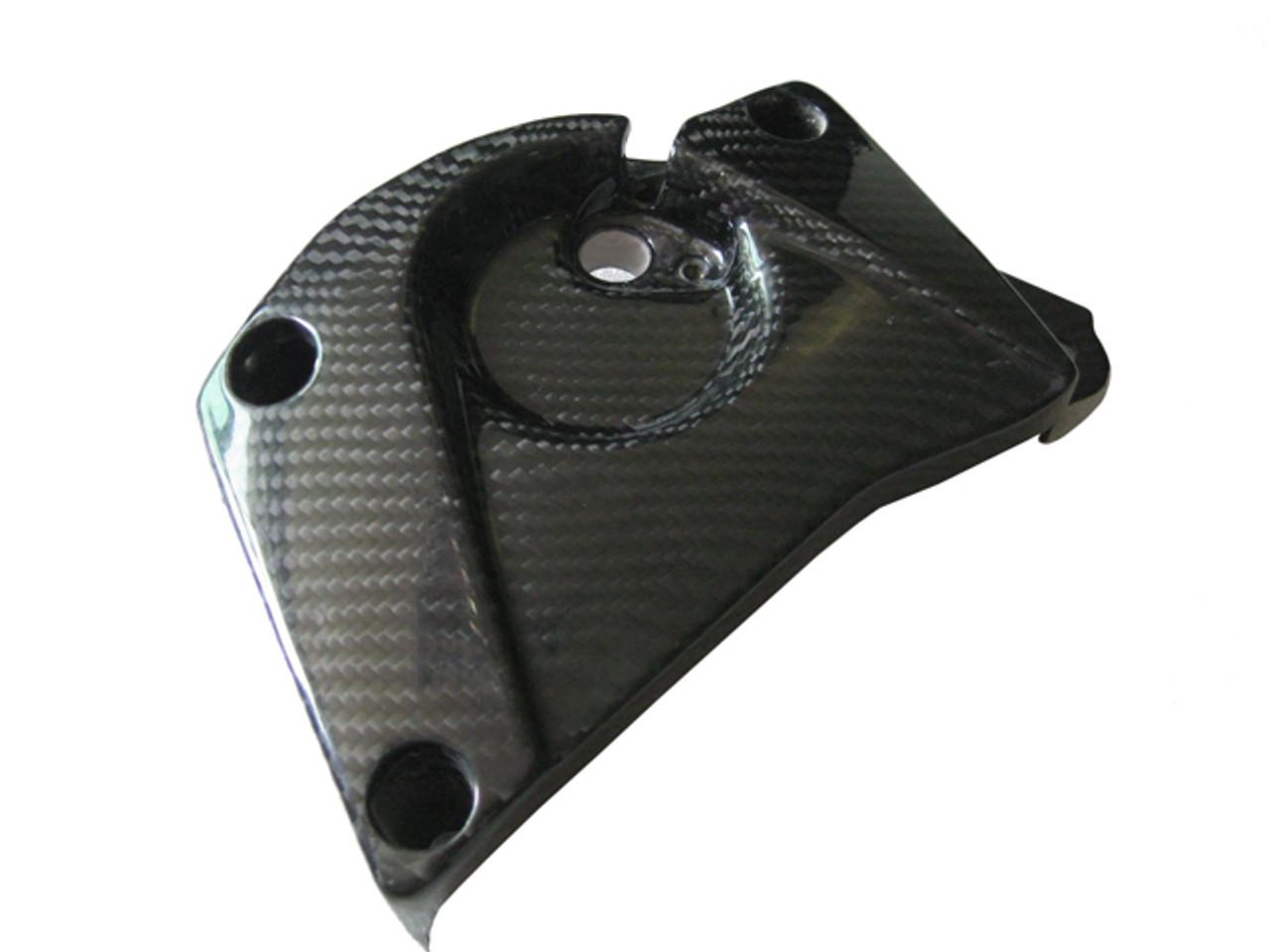Glossy Plain Weave Carbon Fiber Front Sprocket Cover for BMW S1000RR 2009-2014