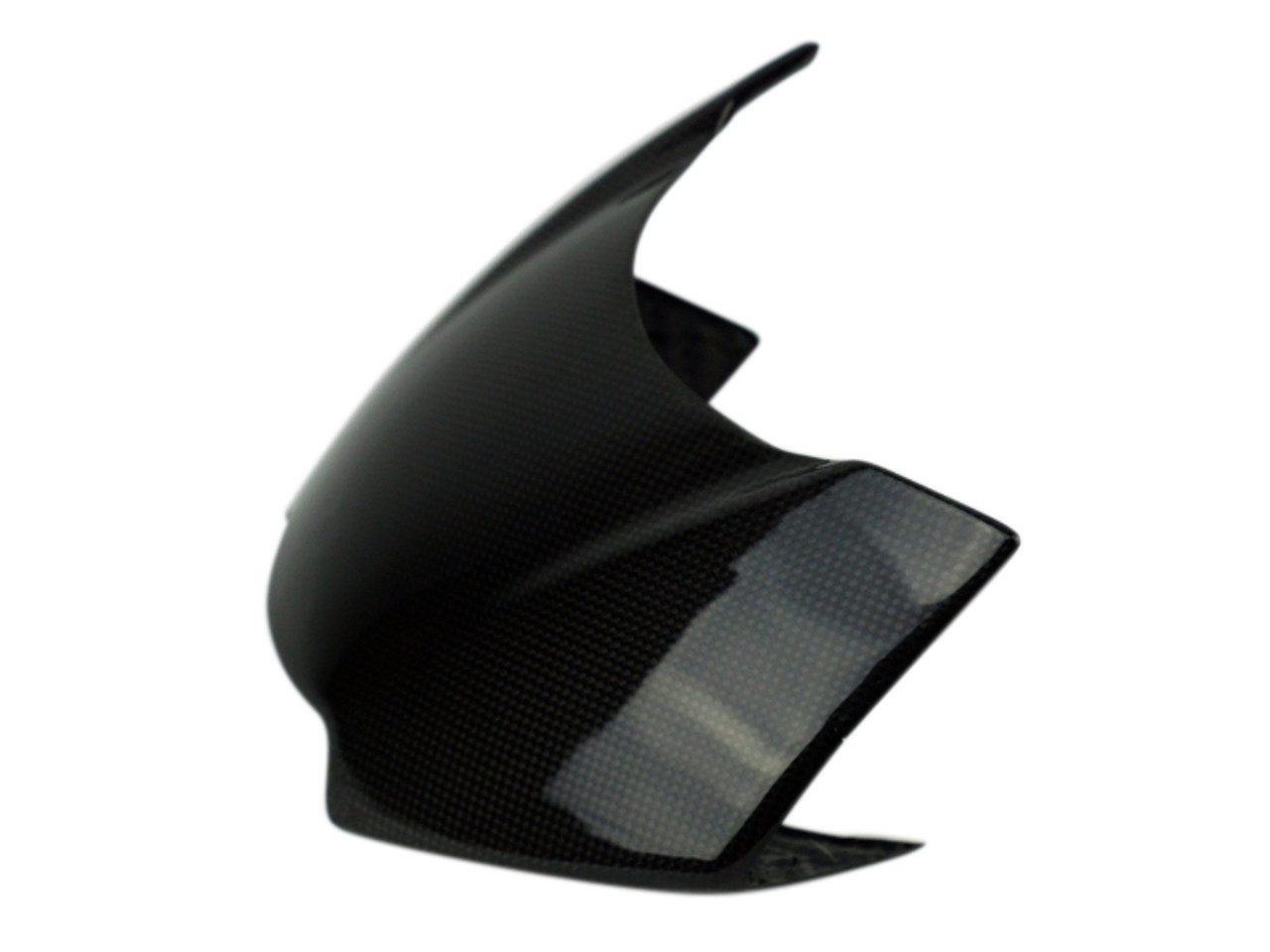 Nose Fairing in Glossy Plain Weave Carbon Fiber for Triumph Speed Triple 1050R 2016+