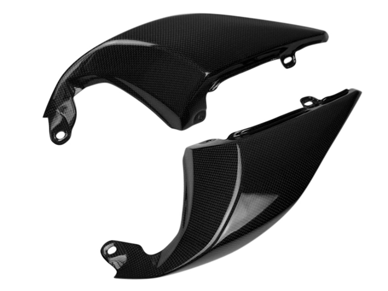 Tail Side Fairings in Glossy Plain Weave Carbon Fiber for Triumph Speed Triple 1050R 2016+